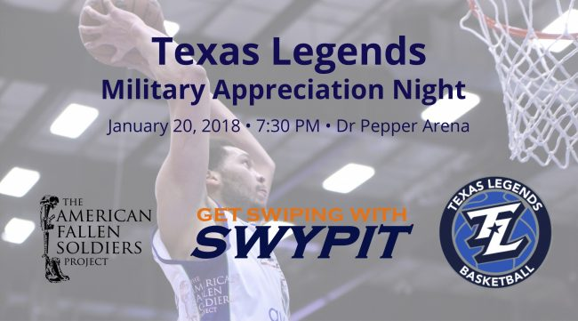 Texas Legends Military Night