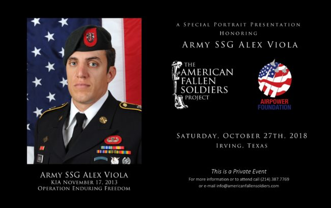 Army SSG Alex Viola to be Honored at Sky Ball Event